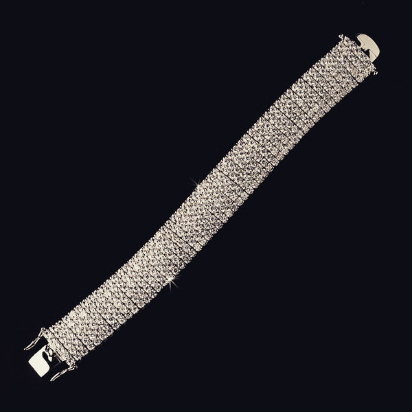 """The Adelaide"" Fabulous Crystal Mesh Bracelet"