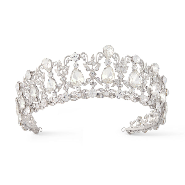 """The Alexandra"" Regal Sparkling Crystal & CZ Tiara"