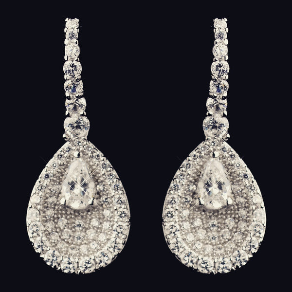 """The Aliana"" Solid 925 Sterling Silver CZ Drop Earrings"