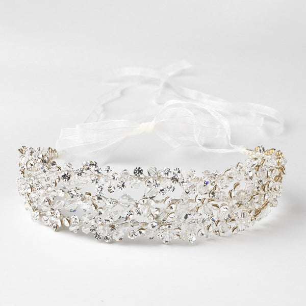 """The Alanna"" Swarovski Crystal Bead Headband - Sweet Heart Details"