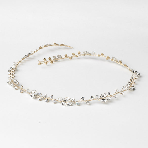 """The April"" Crystal & Rhinestone Vine Headband - Sweet Heart Details"