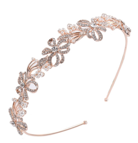 Chic Crystal Treasure Headband - Sweet Heart Details