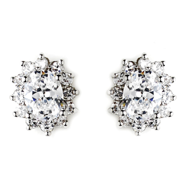 """The Audra"" Crystal Earrings - Sweet Heart Details"