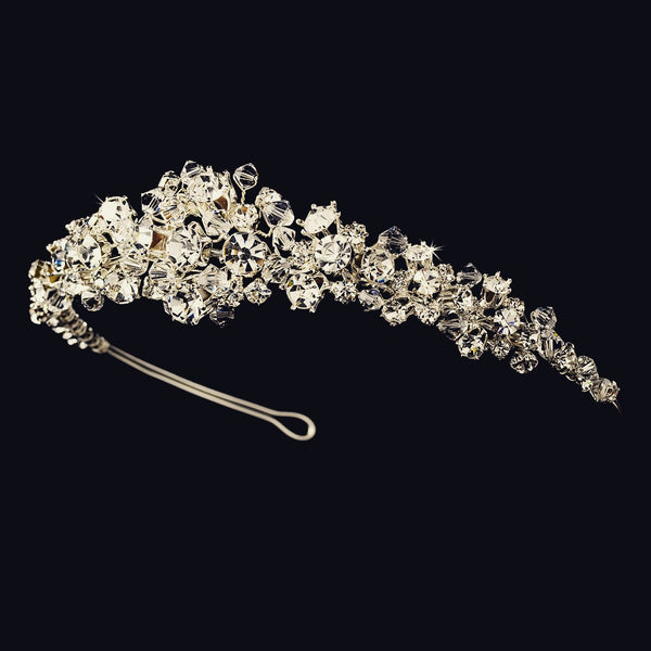 """The Ava"" Silver Plated Swarovski Headpiece"
