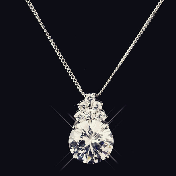 """The Bambi"" Silver Crystal CZ Teardrop Set"