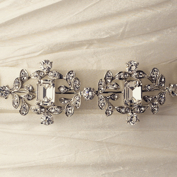 """The Capri"" Vintage Rhinestone & Crystal Belt"