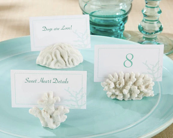 """Seven Seas"" Coral Place Card/Photo Holders - Sweet Heart Details"