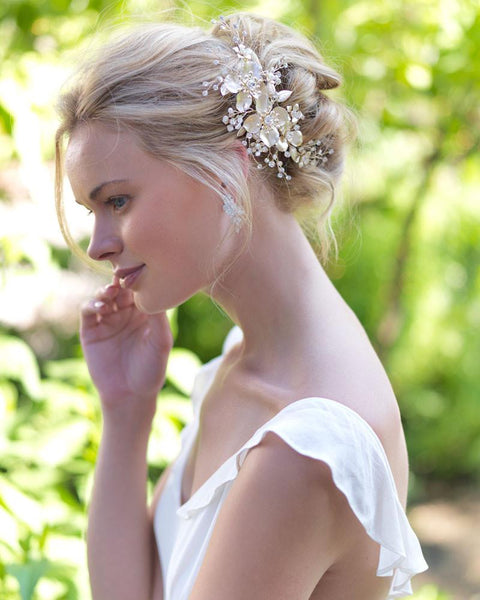 """The Chloe"" Bridal Side Comb by Dareth Colburn - Sweet Heart Details"