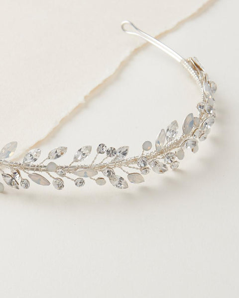 """The Ana"" Dainty Opal Headband - Sweet Heart Details"