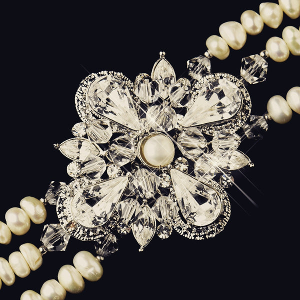 """The Danna"" Antique Freshwater Pearl Bracelet"