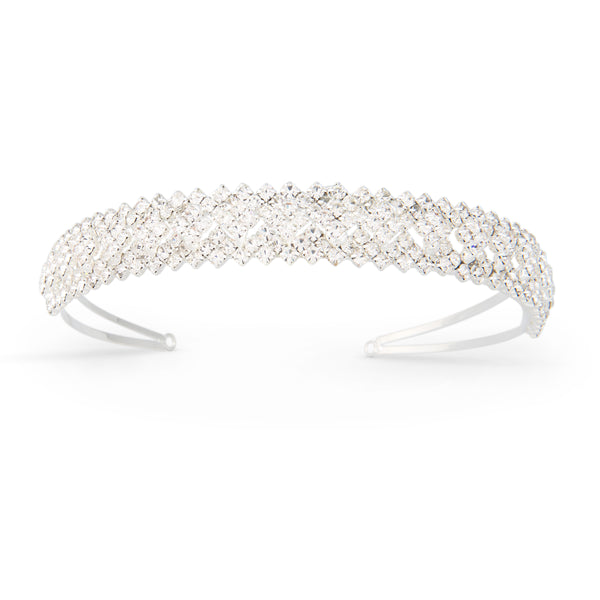 """The Eleanor"" Austrian Crystal Covered Headband-Tiaras & Headbands-Wedding Factory-Sweet Heart Details"