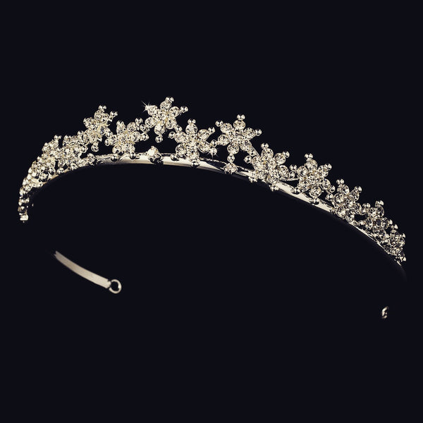"""The Ella"" Winter Snowflake Tiara (multi-colors)-Tiaras & Headbands-Wedding Factory-Sweet Heart Details"