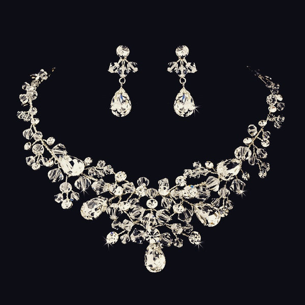 """The Elliot"" Dazzling Austrian Crystal & Bead Set - Sweet Heart Details"