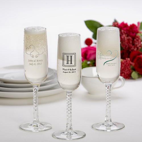 Personalized Printed Champagne Flutes (set of 24)