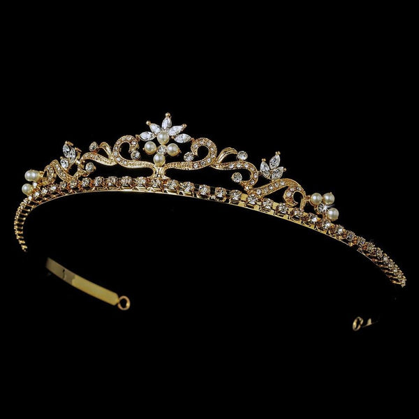 """The Sarah"" Crystal Tiara Headpiece-Tiaras & Headbands-Wedding Factory-Sweet Heart Details"