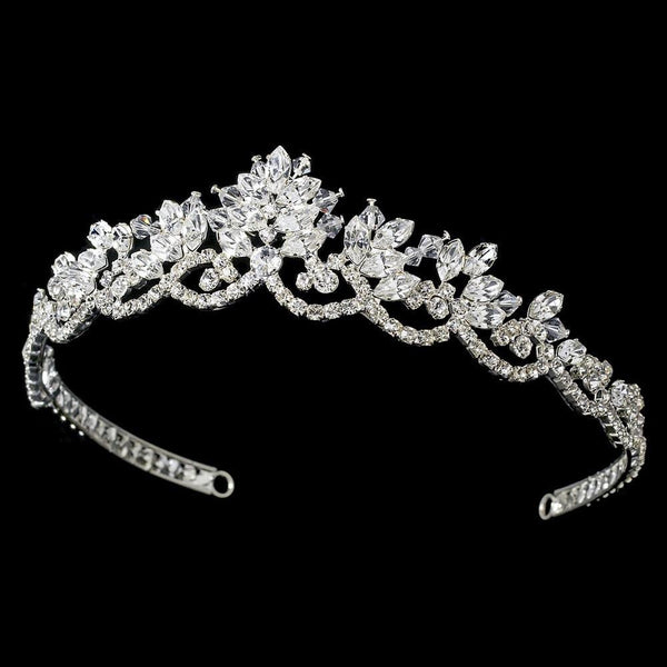"""The Ruth"" Vintage Inspired Swarovski Tiara - Sweet Heart Details"