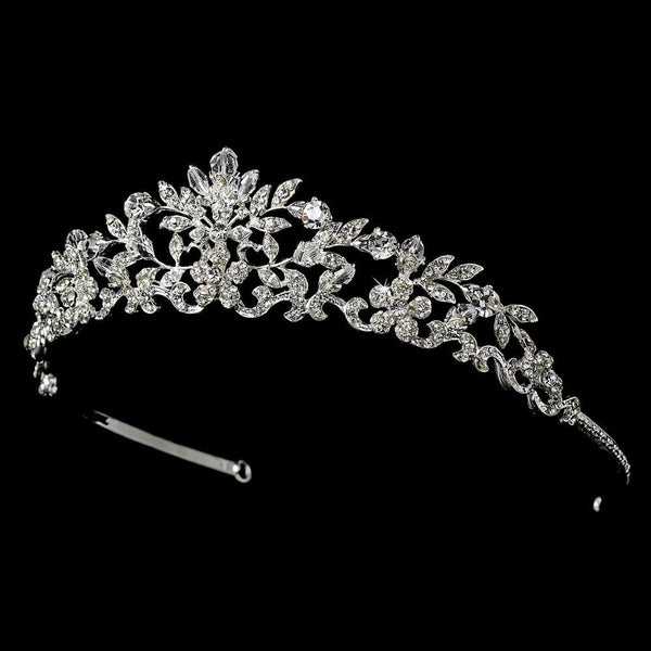 """The Holly"" Swarovski Crystal Tiara - Sweet Heart Details"