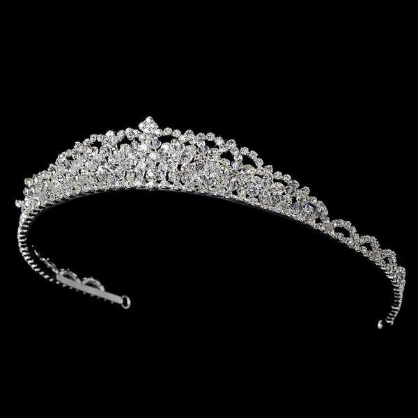 """The Julia"" Swarovski Crystal Tiara - Sweet Heart Details"