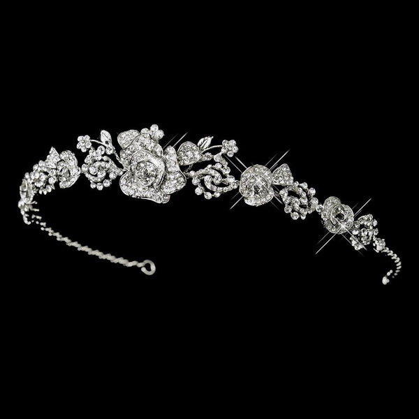 """The Juliette"" Antique Freshwater Pearl Headpiece-Tiaras & Headbands-Wedding Factory-Sweet Heart Details"