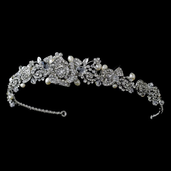 """The Juliet"" Antique Freshwater Pearl Headpiece"