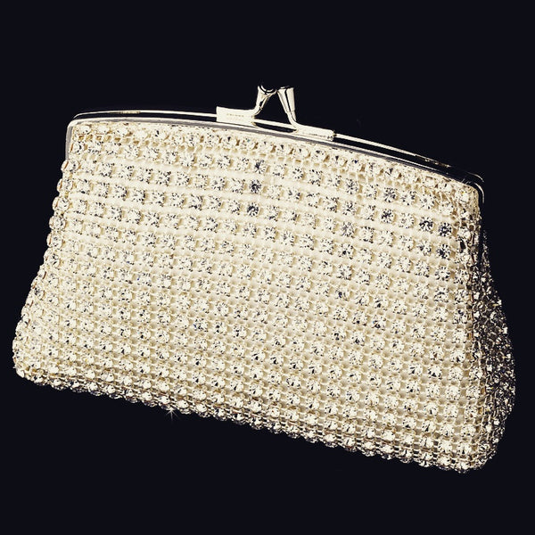 """The Ireland"" Elegant Rhinestone Mesh Evening Bag"