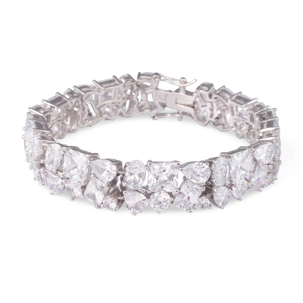 """The Isabelle"" Multi-Cut Crystal Tennis Bracelet"