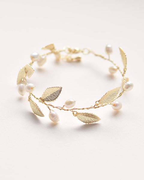 """The Nola"" Bridesmaid's Bracelets (and headband)-Bracelets-Dareth Colburn-Sweet Heart Details"