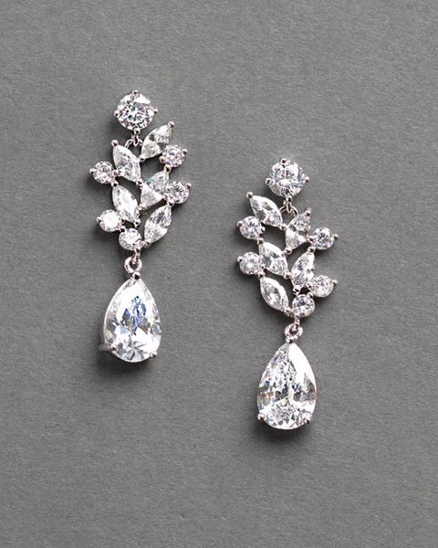 """The Anna"" Floral CZ Earrings (3 pair)-Earrings-Dareth Colburn-JE-4146-S-Sweet Heart Details"