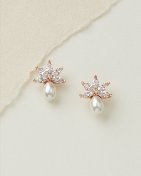 """The Naomi"" Freshwater Pearl Stud Earrings"