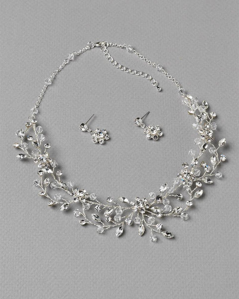 Blossom Swarovski Crystal Jewelry Set - Sweet Heart Details