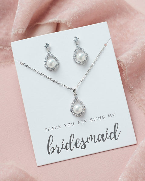 Maid's Elegance Pearl Pendant Sets - Sweet Heart Details