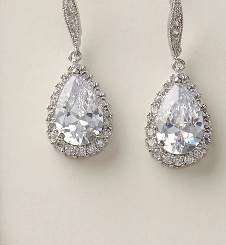 Ellie CZ Bridesmaid Jewelry Sets - Sweet Heart Details