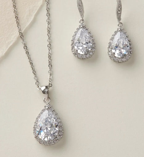 Ellie CZ Bridesmaid Jewelry Sets-Bridesmaid Gifts-Sweet Heart Details