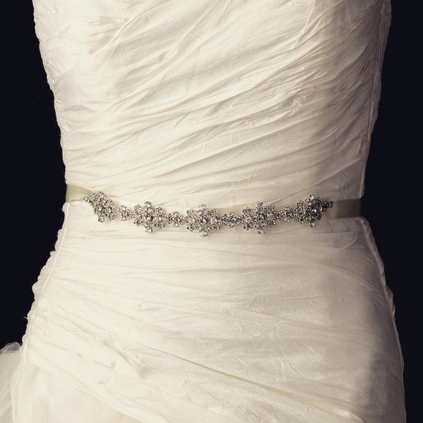 """The Jeannie"" Vintage Rhinestone & Crystal Belt/Headband-Sashes & Belts-Wedding Factory-Sweet Heart Details"