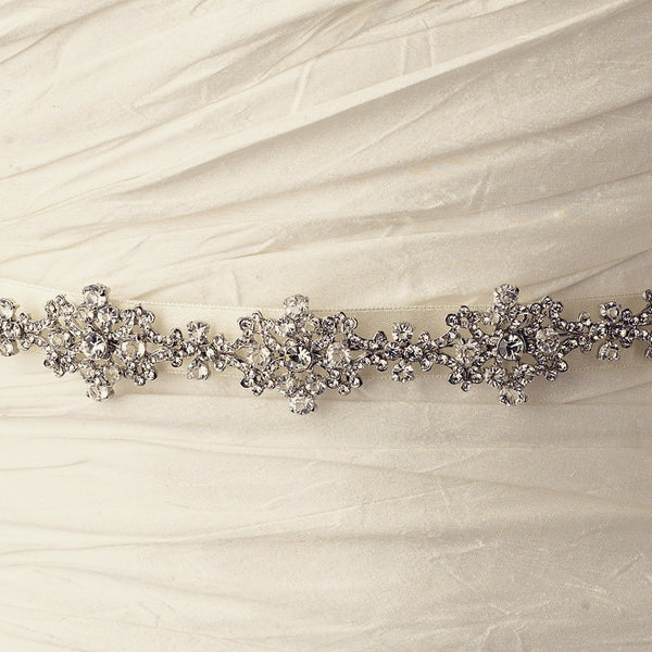 """The Jeannie"" Vintage Rhinestone & Crystal Belt/Headband"
