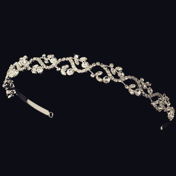 """The Kiah"" Crystal Bridal Headband (Gold/Silver)-Tiaras & Headbands-Wedding Factory-Sweet Heart Details"