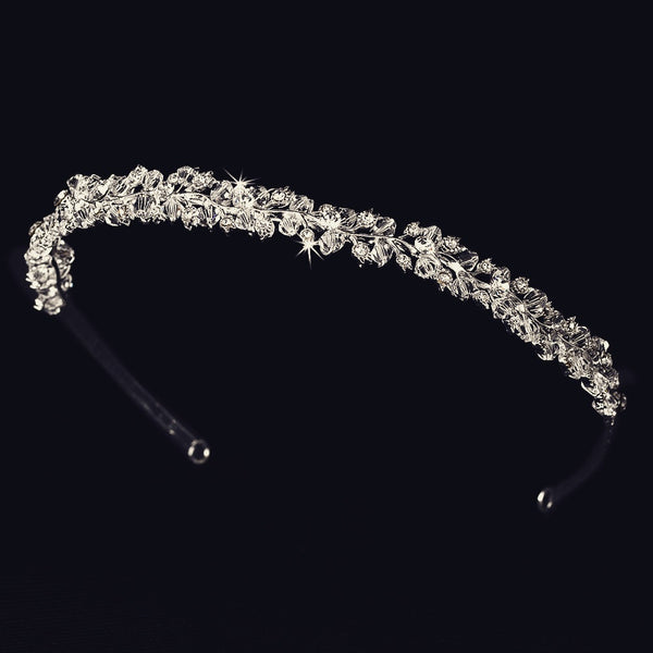 """The Kourtney"" Couture Swarovski Crystal Headband-Tiaras & Headbands-Wedding Factory-Sweet Heart Details"