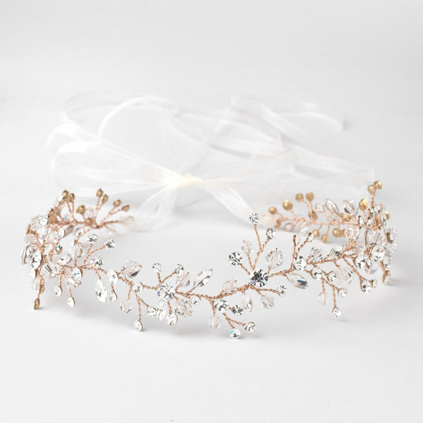 """The Lauryn"" Swarovski Crystal Vine Bridal Headband"