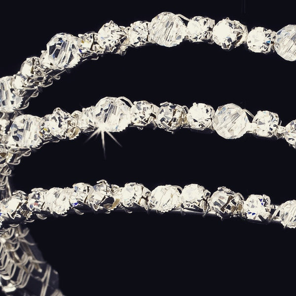"""The Leighton"" Triple Row Swarovski Headband"