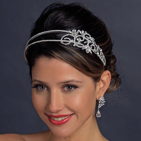 """The Kaia"" Double Crystal Side Accent Headband"