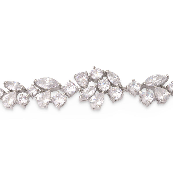 """The Madalyn"" CZ Crystal Bracelet-Bracelets-Wedding Factory-Sweet Heart Details"