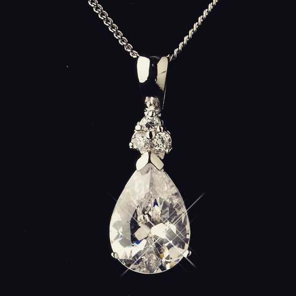 """The Marla"" Teardrop Bridal Party Pendant Sets (4)-Jewelry Sets-Wedding Factory-Sweet Heart Details"