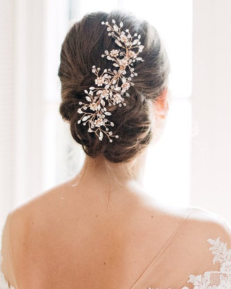 """The Blossom"" Bridal Hair Clip-Combs & Clips-Sweet Heart Details"