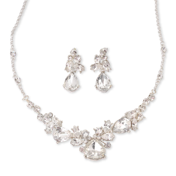 """The Neena"" Swarovski Crystal Jewelry Set (Silver/Gold)"