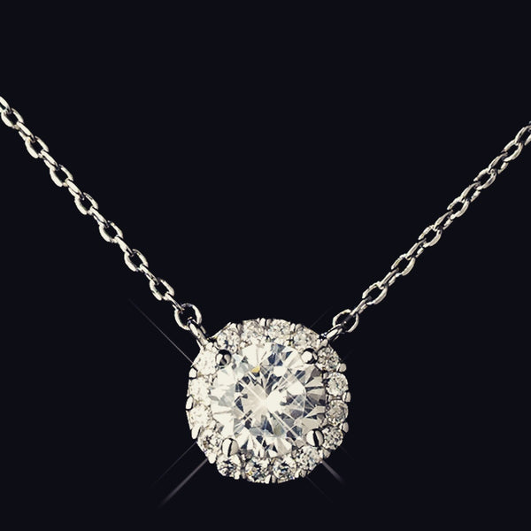 """The Nora"" Antique Silver CZ Encrusted Round Set"