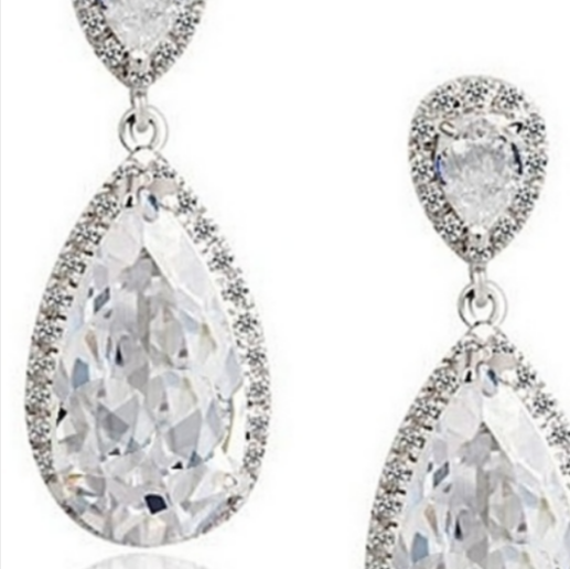 Sparkling Crystal Drop Earrings - Sweet Heart Details