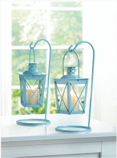 Railroad Candle Lanterns (Blue or Pink or White)-Sweet Heart Details