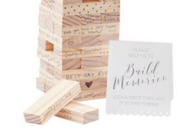 Memory Blocks Wedding Guest Book-Ceremony-Wedding Star-T317-Sweet Heart Details
