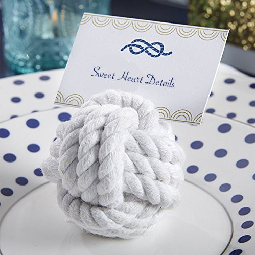Nautical Cotton Rope Place Card Holders - Sweet Heart Details