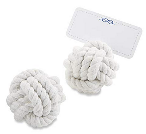 Nautical Cotton Rope Place Card Holder (36)-Placecard Holders-Kate Aspen-29043NA-Sweet Heart Details